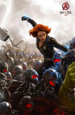 Avengers: l'ère d'Ultron (2015) poster la veuve noire
