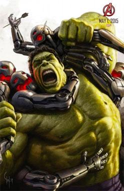 Marvel Avengers: l'ère d'Ultron (2015) Poster Hulk