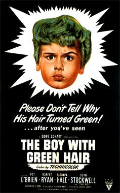 Le petit garçon aux cheveux verts, le film de 1948