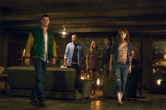 La cabane dans les bois, le film de 2012