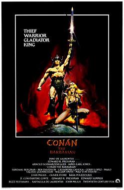 Conan le Barbare, le film de 1982 (poster)