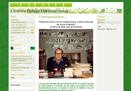 L'écrivain Philippe Ebly