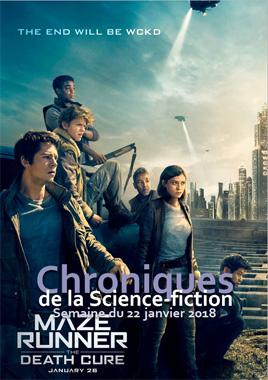 Chroniques de la Science-fiction, Année 2018, numéro 4 - Semaine du Lundi 22 janvier 2018