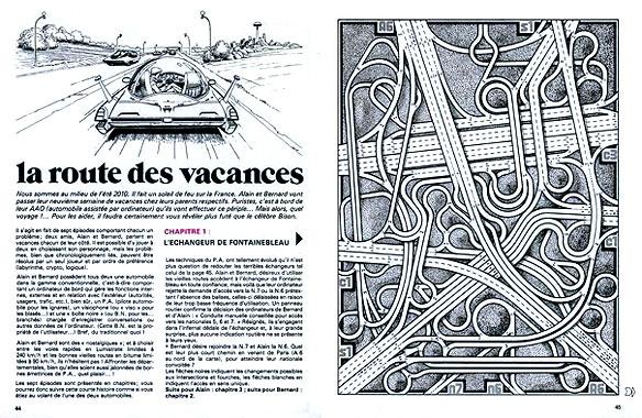 """""""La route des vacances"""", Claude Lacroix in Jeux & Stratégie 23 (Excelsior Publications, 1983)"""