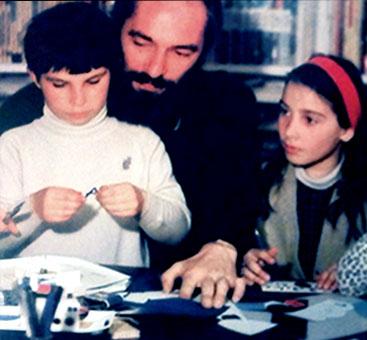 Yvon Le Gall et ses enfants
