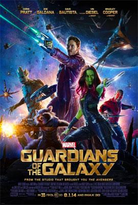 Les gardiens de la galaxie, le film de 2014 poster