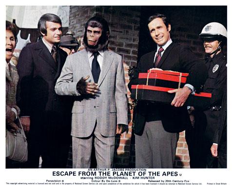Les évadés de la planète des singes, le film de 1971