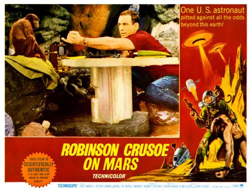 Robinson Crusoé sur Mars, le film de 1964