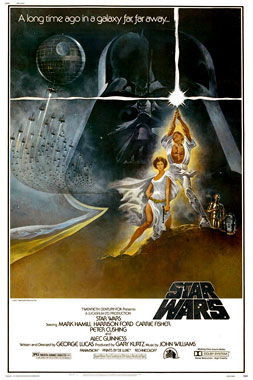 Star Wars, le film de 1977 (poster)