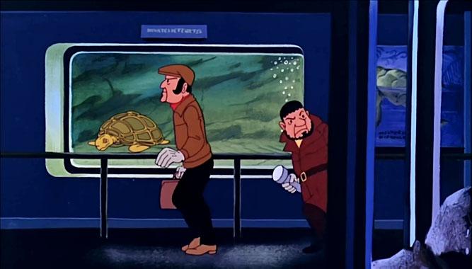 Tintin et le lac aux requins, le dessin animé de 1972