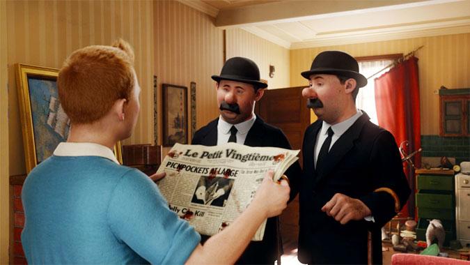 Tintin et le secret de la Licorne, le dessin animé de 2011