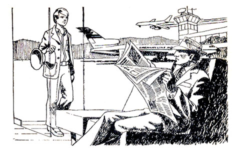 Serge Daspremont, par Yvon Le Gall, in Destination Uruapan (Hachette, 1971)